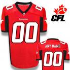CFL Custom Calgary Stampeders Premier TC Red Football Jersey