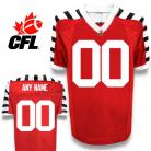 CFL Custom Hamilton Tiger-Cats Premier TC Alt 3nd Red Football Jersey