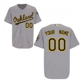 Oakland Athletics Authentic Style Personalized Road Gray Jersey