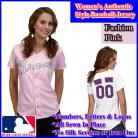 Atlanta Braves Women's Personalized Fashion Pink Jersey