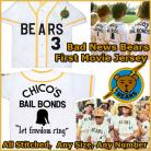 Bad News Bears Movie 1976 Chico's Bail Bonds Baseball Jersey