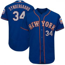New York Mets Authentic Style Personalized Alternate Road Blue Jersey