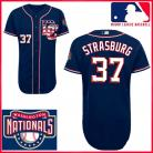 Washington Nationals Authentic Style Road Gray Jersey #37 Stephen Strasburg