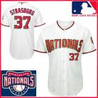 Washington Nationals Authentic Style Home White Jersey #37 Stephen Strasburg