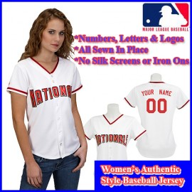 Washington Nationals Authentic Personalized Women's White Jersey