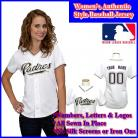 San Diego Padres Authentic Personalized Women's White Jersey