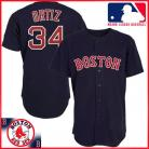 Boston Red Sox Authentic Style Away Navy Jersey #34 David Ortiz