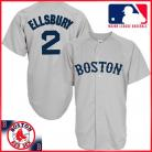 Boston Red Sox Authentic Style Away Gray Jersey #2 Jacoby Ellsbury