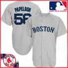 Boston Red Sox Authentic Style Away Gray Jersey #58 Jonathan Papelbon