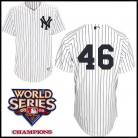 New York Yankees Authentic Style Home Pinstripe Jersey Andy Pettitte #46