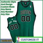Boston Celtics  Authentic Style Alt NBA Basketball Jersey Green