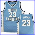 North Carolina Tar Heels  Authentic Style Jersey Blue #23 Michael Jordan