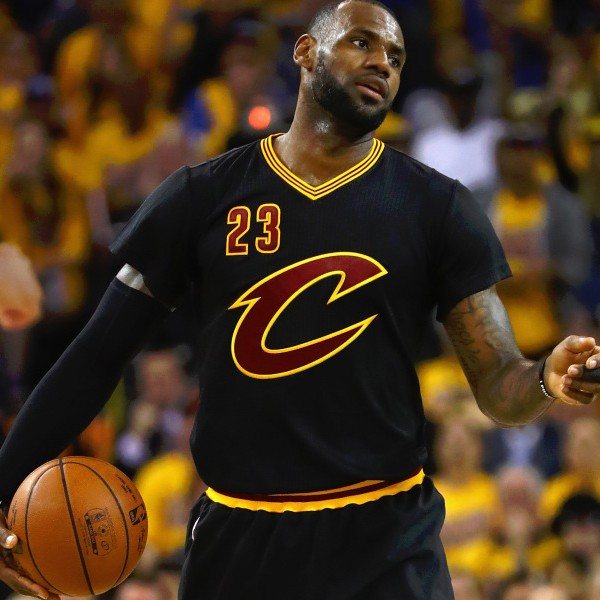 LeBron James #23 Cleveland Cavaliers Authentic Style Black Sleeved Champs Jersey - Custom Made ...
