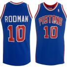 Detroit Pistons Throwback Authentic Style Road Jersey Blue #10 Dennis Rodman