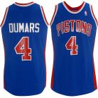 Detroit Pistons Throwback Authentic Style Road Jersey Blue #4 Joe Dumars