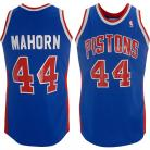 Detroit Pistons Throwback Authentic Style Road Jersey Blue #44 Rick Mahorn