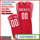 Houston Rockets Custom Authentic Style Road Jersey Red