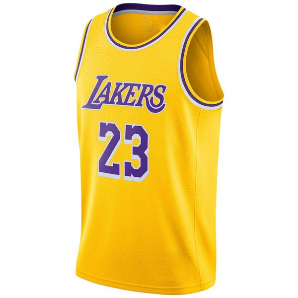 e47ed0e900f LeBron James  23 Los Angeles Lakers Authentic Style Home Gold Jersey ...