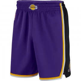 Mens Los Angeles Lakers Purple Authentic Style On-Court New Design Shorts