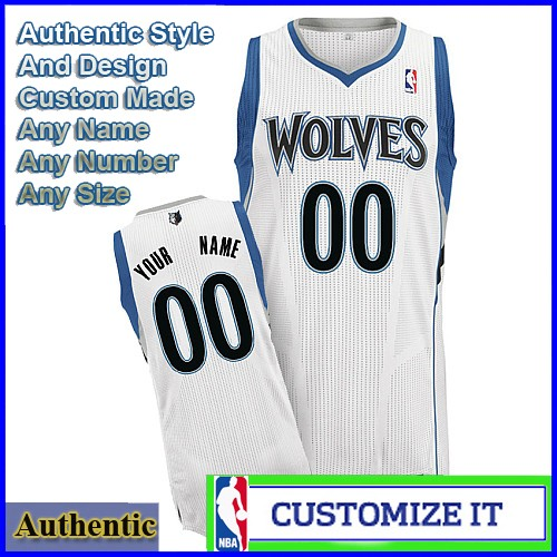 Minnesota Timberwolves Custom Authentic Style Home Jersey White. Hover over  image to zoom. Click to enlarge c7a05558d