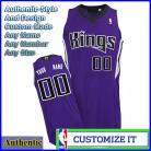Sacramento Kings Custom Authentic Style Road Jersey Purple