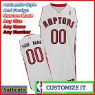 Toronto Raptors Custom Authentic Style Home Jersey White