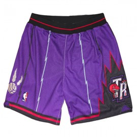 Mens Toronto Raptors Throwback Purple Authentic Style On-Court Shorts