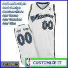 Washington Wizards Custom Authentic Style Classic Home White Jersey