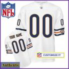 Chicago Bears Authentic RBK Style White Ladies Jersey (Customized or Blank)