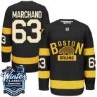 Boston Bruins 2016 Winter Classic Mens Black Jersey 63  Brad Marchand