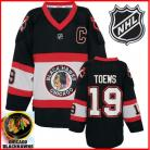 Chicago Blackhawks Authentic Style Black Third Jersey #19 Jonathan Toews