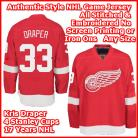 Detroit Red Wings Authentic Style Red Home Jersey #33 Kris Draper