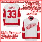 Detroit Red Wings Authentic Style White Road Jersey #33 Kris Draper