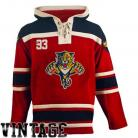 Mens Florida Panthers  Old Time Red Lace Heavyweight Hoodie Hockey Jersey
