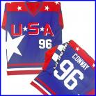 MIGHTY DUCKS D2 MOVIE TEAM USA CONWAY 96 BLUE JERSEY