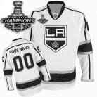 LA Kings Jersey Customized 2014 Stanley Cup Champions White Jersey (Custom or Blank)