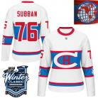 Montreal Canadiens  2016 Winter Classic Ladies White Jersey 76 PK Subban