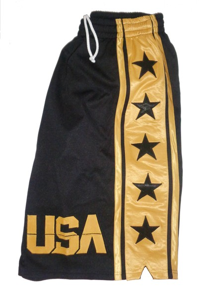 ab04d6898 ... USA MEN STAR BLACK w  GOLD CUSTOM BASKETBALL SHORTS. Hover over image  to zoom. Click to enlarge Click to enlarge Click to enlarge Click to  enlarge Click ...