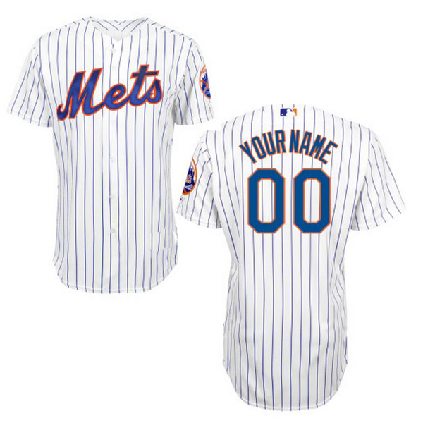 new york mets 2015 authentic style personalized home pinstriped jersey