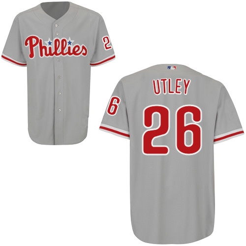 Philadelphia Phillies Authentic Style Gray Road Jersey  26 Chase Utley c0bf8d31a56