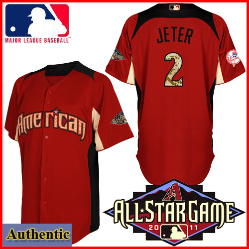 American League NY Yankees Authentic Derek Jeter 2011 All-Star BP Jersey 675352d4498