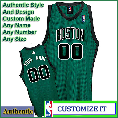 6105f513e Boston Celtics Authentic Style Alt NBA Basketball Jersey Green ...