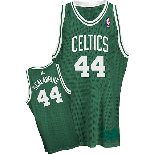 2667159a275 Boston Celtics Authentic Style Road Jersey Green  44 Brian Scalabrine