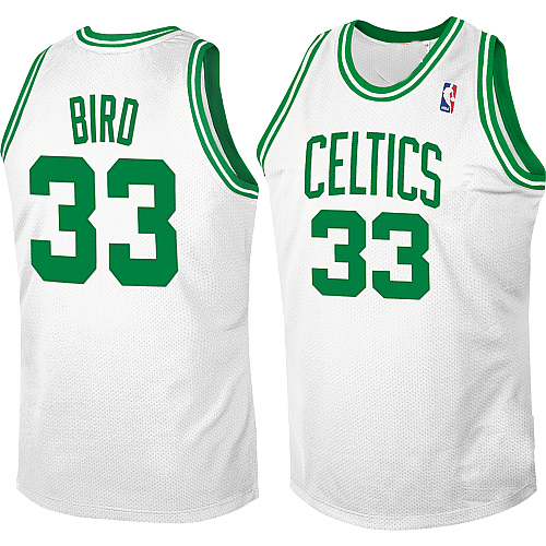 ebe7ccd4627 Boston Celtics Authentic Style Classic Home White Jersey  33 Larry Bird