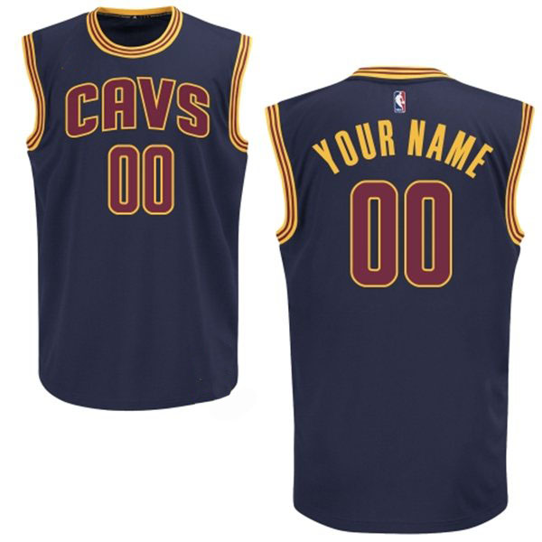 e4625a074a15 Cleveland Cavaliers Custom Authentic 2015 Style Alt Blue Jersey ...