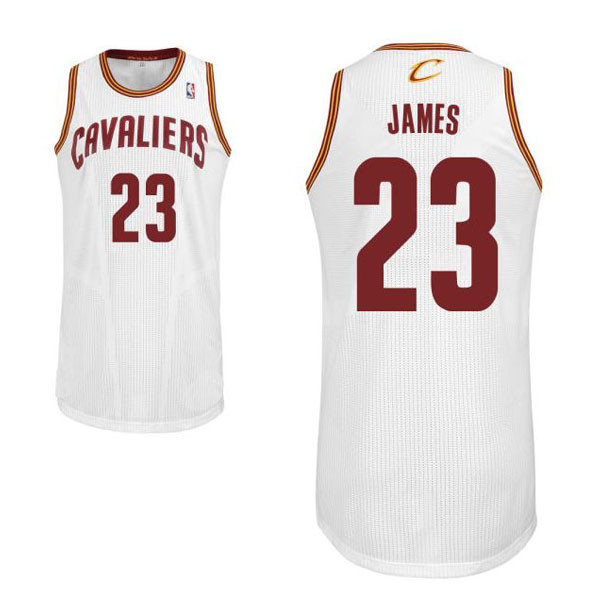 e7ead64895b LeBron James  23 Cleveland Cavaliers Authentic Style Home White Jersey