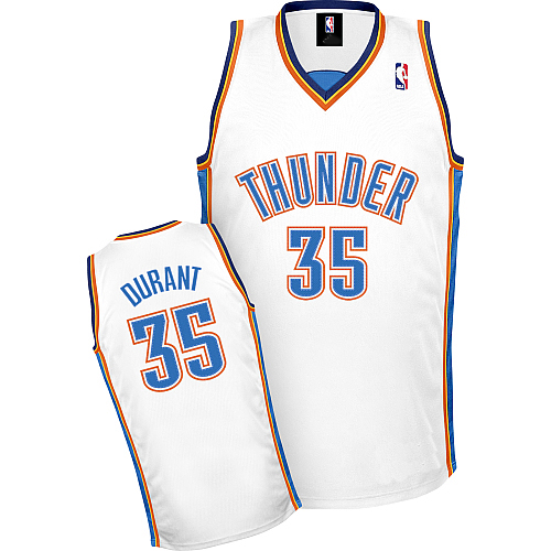 97c65de5296 Oklahoma City Thunder Authentic Style Home Jersey White  35 Kevin Durant