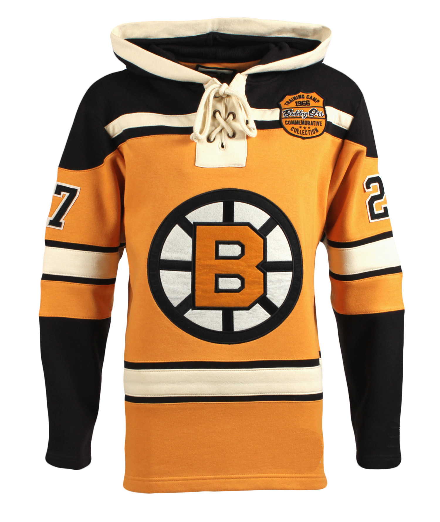 Boston Bruins Bobby Orr 1966 Training Camp Lace Hoodie Hockey Jersey ... f4021f1950d