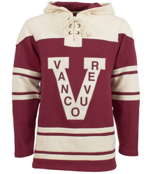 Mens Vancouver Millionaires Old Time Burgundy Lace Heavyweight Hoodie  Hockey Jersey 2bcf11eda78