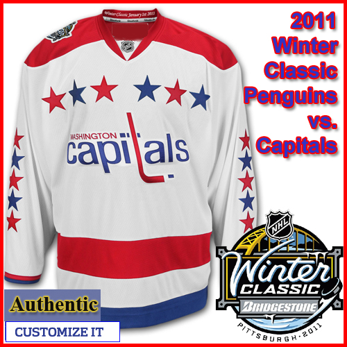 Washington Capitals 2011 Winter Classic Custom or Blank Authentic Jersey 60083eff8a2